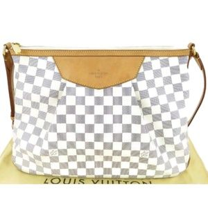 Louis Vuitton  Siracusa Damier Azur MM Ey336